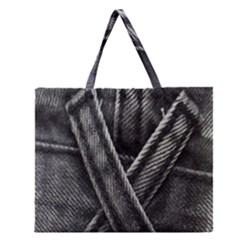 Backdrop Belt Black Casual Closeup Zipper Large Tote Bag