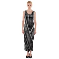 Backdrop Belt Black Casual Closeup Fitted Maxi Dress