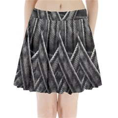 Backdrop Belt Black Casual Closeup Pleated Mini Skirt