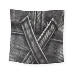 Backdrop Belt Black Casual Closeup Square Tapestry (small)