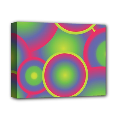 Background Colourful Circles Deluxe Canvas 14  x 11
