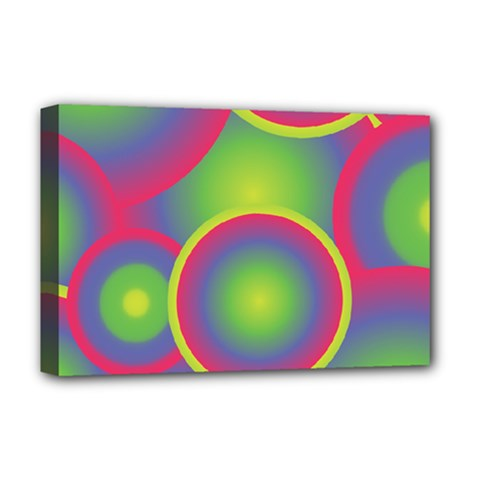 Background Colourful Circles Deluxe Canvas 18  x 12
