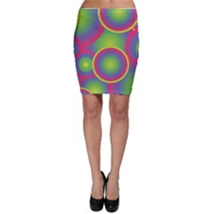Background Colourful Circles Bodycon Skirt