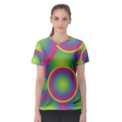 Background Colourful Circles Women s Sport Mesh Tee
