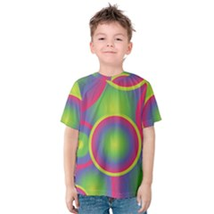 Background Colourful Circles Kids  Cotton Tee