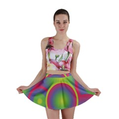 Background Colourful Circles Mini Skirt