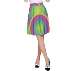 Background Colourful Circles A-Line Skirt