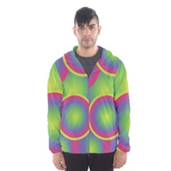 Background Colourful Circles Hooded Wind Breaker (men)