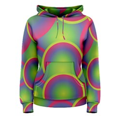 Background Colourful Circles Women s Pullover Hoodie