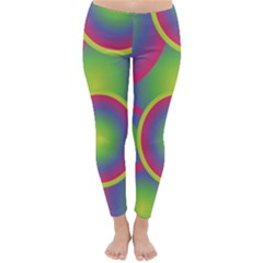 Background Colourful Circles Classic Winter Leggings