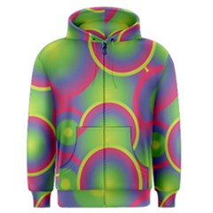 Background Colourful Circles Men s Zipper Hoodie