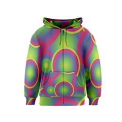 Background Colourful Circles Kids  Zipper Hoodie