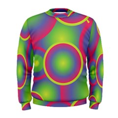 Background Colourful Circles Men s Sweatshirt