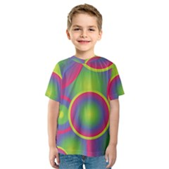 Background Colourful Circles Kids  Sport Mesh Tee