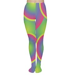 Background Colourful Circles Women s Tights