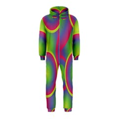 Background Colourful Circles Hooded Jumpsuit (Kids)