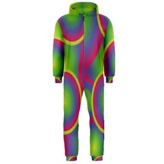 Background Colourful Circles Hooded Jumpsuit (Men)