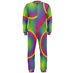 Background Colourful Circles OnePiece Jumpsuit (Men)