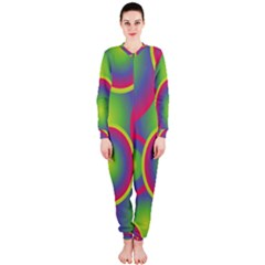 Background Colourful Circles OnePiece Jumpsuit (Ladies)