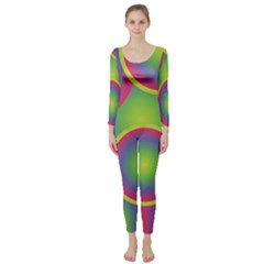 Background Colourful Circles Long Sleeve Catsuit