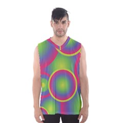 Background Colourful Circles Men s Basketball Tank Top