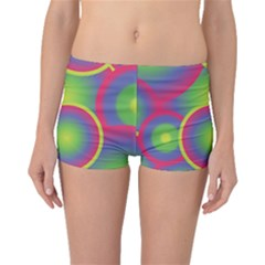 Background Colourful Circles Boyleg Bikini Bottoms