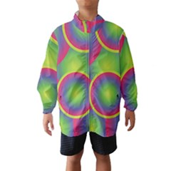 Background Colourful Circles Wind Breaker (Kids)