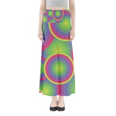 Background Colourful Circles Maxi Skirts