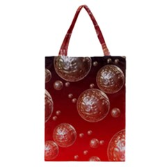 Background Red Blow Balls Deco Classic Tote Bag