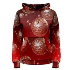 Background Red Blow Balls Deco Women s Pullover Hoodie