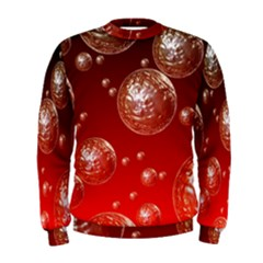 Background Red Blow Balls Deco Men s Sweatshirt