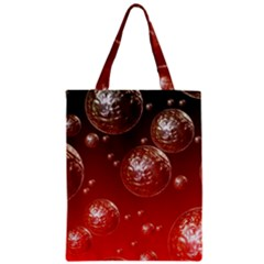 Background Red Blow Balls Deco Zipper Classic Tote Bag