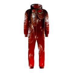 Background Red Blow Balls Deco Hooded Jumpsuit (kids)