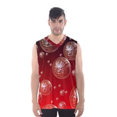 Background Red Blow Balls Deco Men s Basketball Tank Top