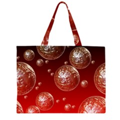 Background Red Blow Balls Deco Large Tote Bag
