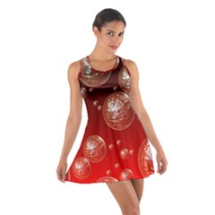 Background Red Blow Balls Deco Cotton Racerback Dress
