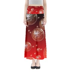 Background Red Blow Balls Deco Maxi Skirts