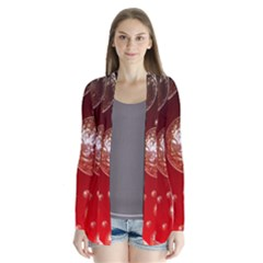 Background Red Blow Balls Deco Cardigans