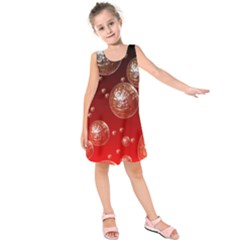 Background Red Blow Balls Deco Kids  Sleeveless Dress