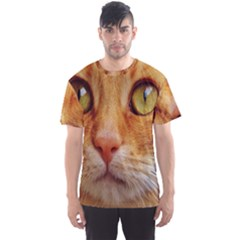 Cat Red Cute Mackerel Tiger Sweet Men s Sport Mesh Tee