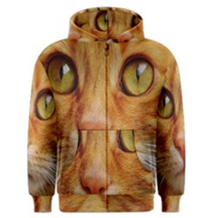 Cat Red Cute Mackerel Tiger Sweet Men s Zipper Hoodie