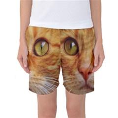 Cat Red Cute Mackerel Tiger Sweet Women s Basketball Shorts