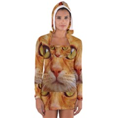 Cat Red Cute Mackerel Tiger Sweet Women s Long Sleeve Hooded T-shirt