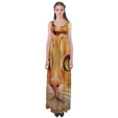 Cat Red Cute Mackerel Tiger Sweet Empire Waist Maxi Dress