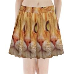 Cat Red Cute Mackerel Tiger Sweet Pleated Mini Skirt