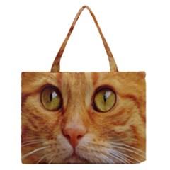Cat Red Cute Mackerel Tiger Sweet Medium Zipper Tote Bag