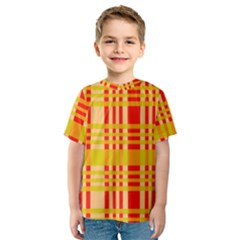 Check Pattern Kids  Sport Mesh Tee