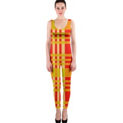 Check Pattern OnePiece Catsuit