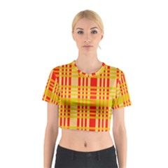 Check Pattern Cotton Crop Top