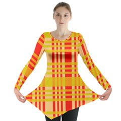 Check Pattern Long Sleeve Tunic
